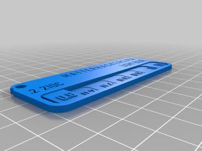 Customized Filament Swatch (MATTERHACKERS) - LIGHT BLUE