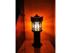 Gothic Lantern Post