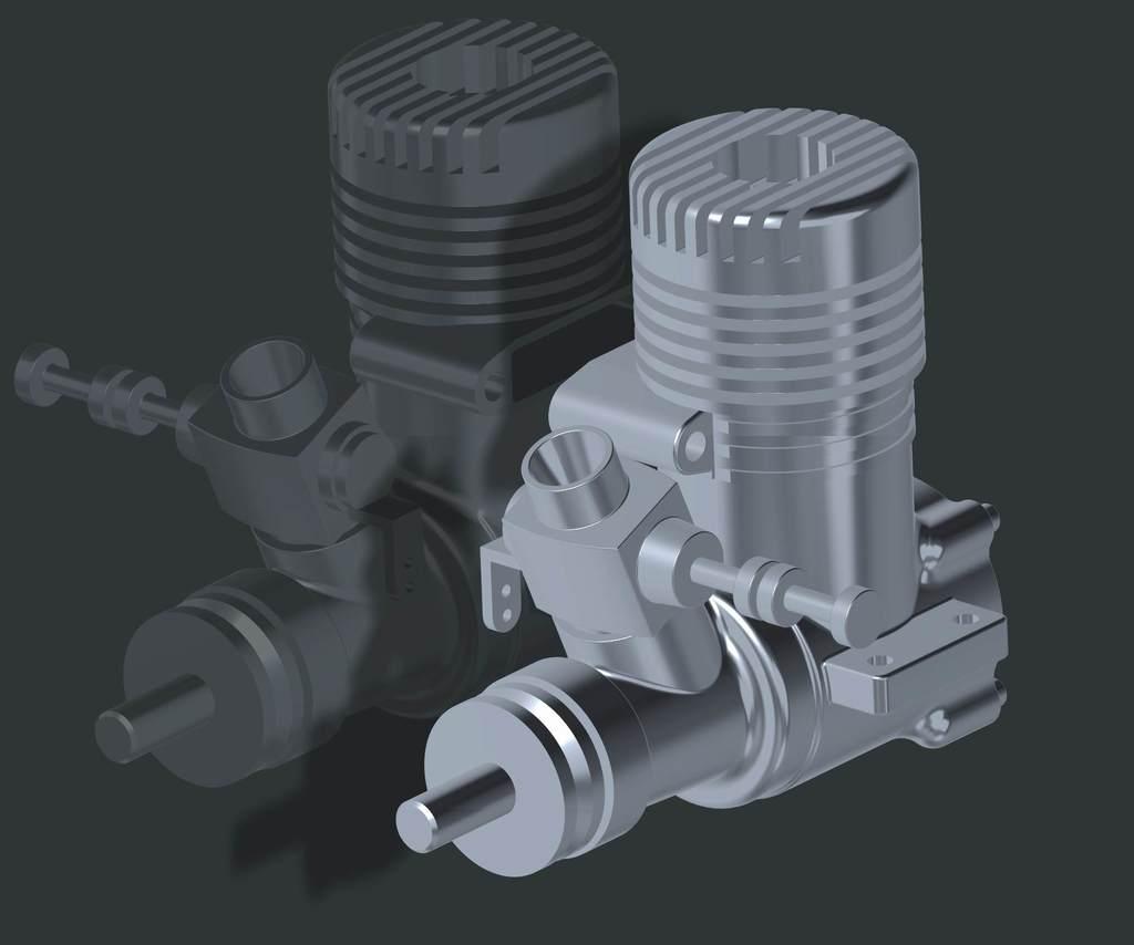 O.S.25 RC Engine