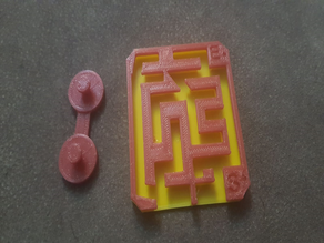 Almost impossible sliding maze puzzle