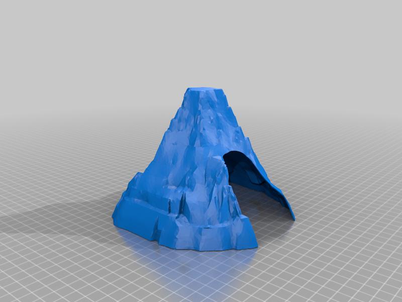 Matterhorn Mountain tunnel for wooden toy train