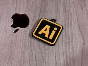 Adobe Illustrator Ai Keychain