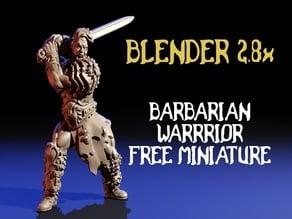 Barbarian warrior free miniature / miniatura gratis guerrero bárbaro