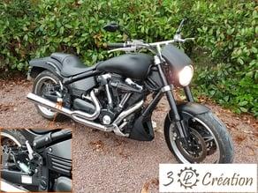 Repose pied moto - Yamaha XV 1700 Warrior