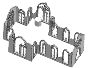 Ruined Cathedral for wargaming, RPGS and D&D