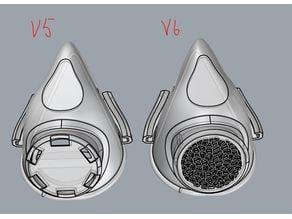 v6 Covid-19 NanoHack v2 Copper3D front air leak voronoi fix