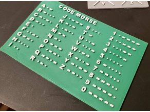 Morse code slab helper