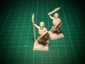 Hobgoblin halberdier/spearman 28mm (No supports needed)