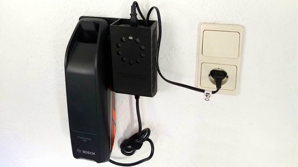 E-bike battery & charger holder