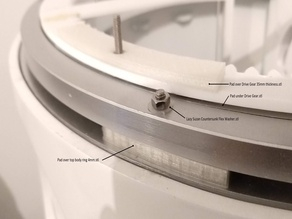 Rubber pads and washers for R2-D2 dome