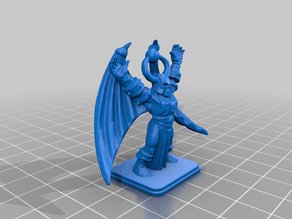 HeroQuest Chaos Sorcerer with gargoyle wings
