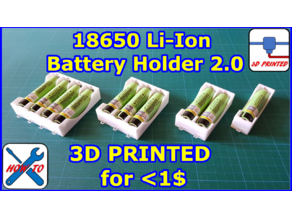 18650 Li-ion Battery Holder 2.0 for HIGH current, Case