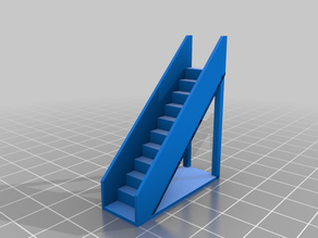 HO scale 9 ft. straight staircase