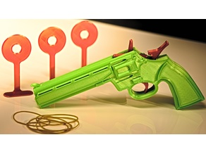 3D Printed Rubber Band Gun