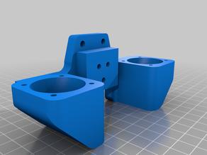 e3d chimera blower mount for Tevo Tarantula (pro) / Flash !!flawed design!!