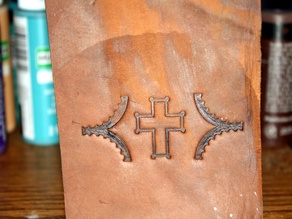 Leather Cross Imprint Stamp