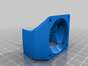 40mm cold section fan mount for double e3d v6 for railcore II