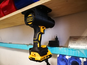 DeWALT / Makita drill gun shelf hanger holder