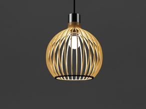 Round ajoured pendant lamp