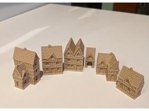 Wee Burgh Medieval Town or City (timber set01)