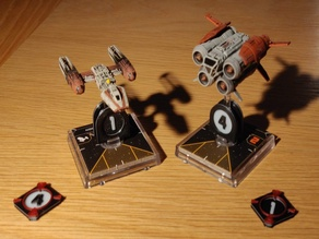 X-Wing Miniatures - Ship Numbers and Target Lock Tokens