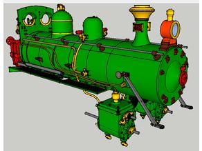 """Nueva locomotora Baldwin """"La Robla"""", caldera"""