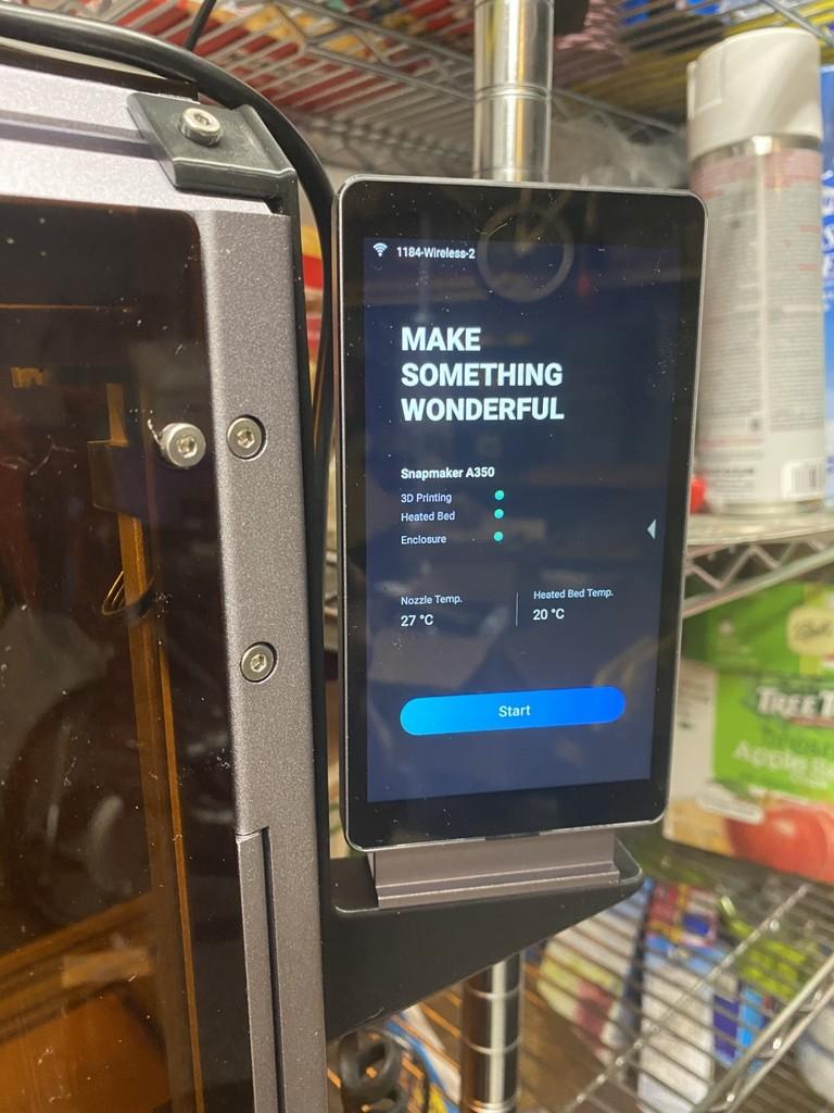 Snapmaker 2.0 Enclosure Touchscreen Bracket
