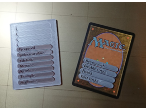 Magic the Gathering ability counters and holder