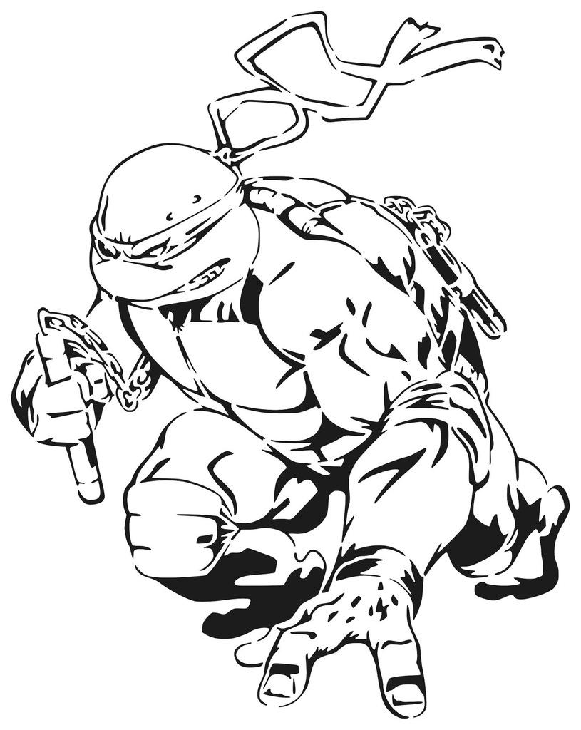 TMNT Michelangelo stencil