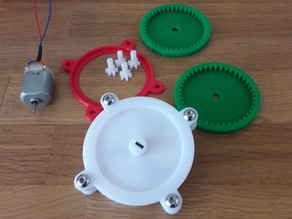 1:246 Gearbox with mount and shaft for DC motor