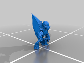 Halo Grunts posed & Plasma rifle (only needs supports to print)