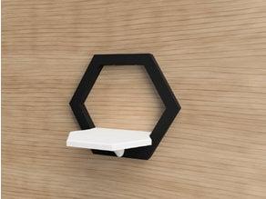 Wall mounted modular hexagon shelf