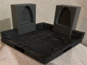 True Tiles WoodWall Alcove & Shelves
