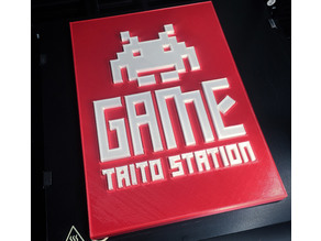 Game Station Taito plate