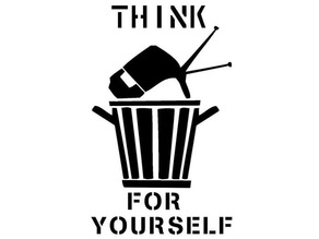 Think for yourself stencil