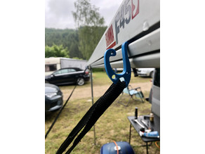 Hooky - the helpful Snake | multifunctional hook for awning Keder rails (Fiamma and others)