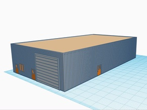 N Scale Small Warehouse Flat Roof (1:160)