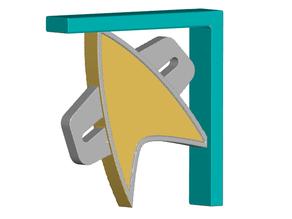 Voyager Com Badge Shelf Bracket (Screw or Tape Mount)