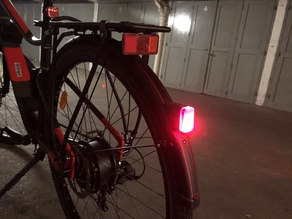 B'twin Vioo clip light adaptater for rear mudguard