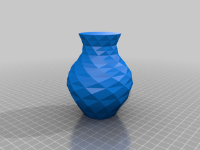 Customisable bezier low-poly vase