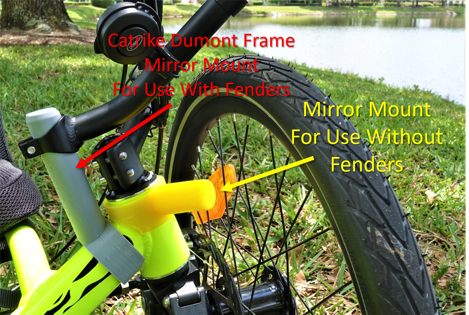 Catrike Dumont Mirror Adapter Works With Fenders