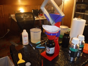 Silicone Funnel Holder for Resin Vat Drainer