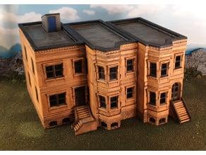 New York brownstone buildings