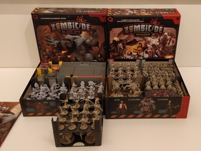 Zombicide Invader insert with card holders and stack-able trays