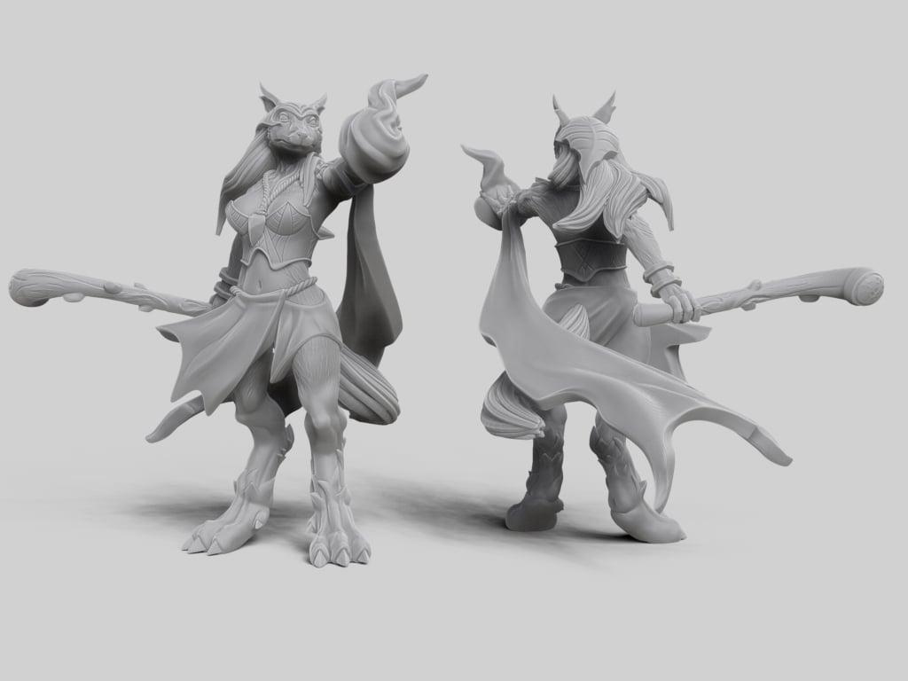 Werewolf Hybrid Form Sorceress