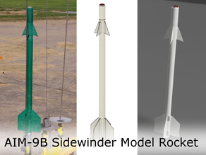 AIM-9B Sidewinder Model Rocket for 24mm (Estes D Engines)