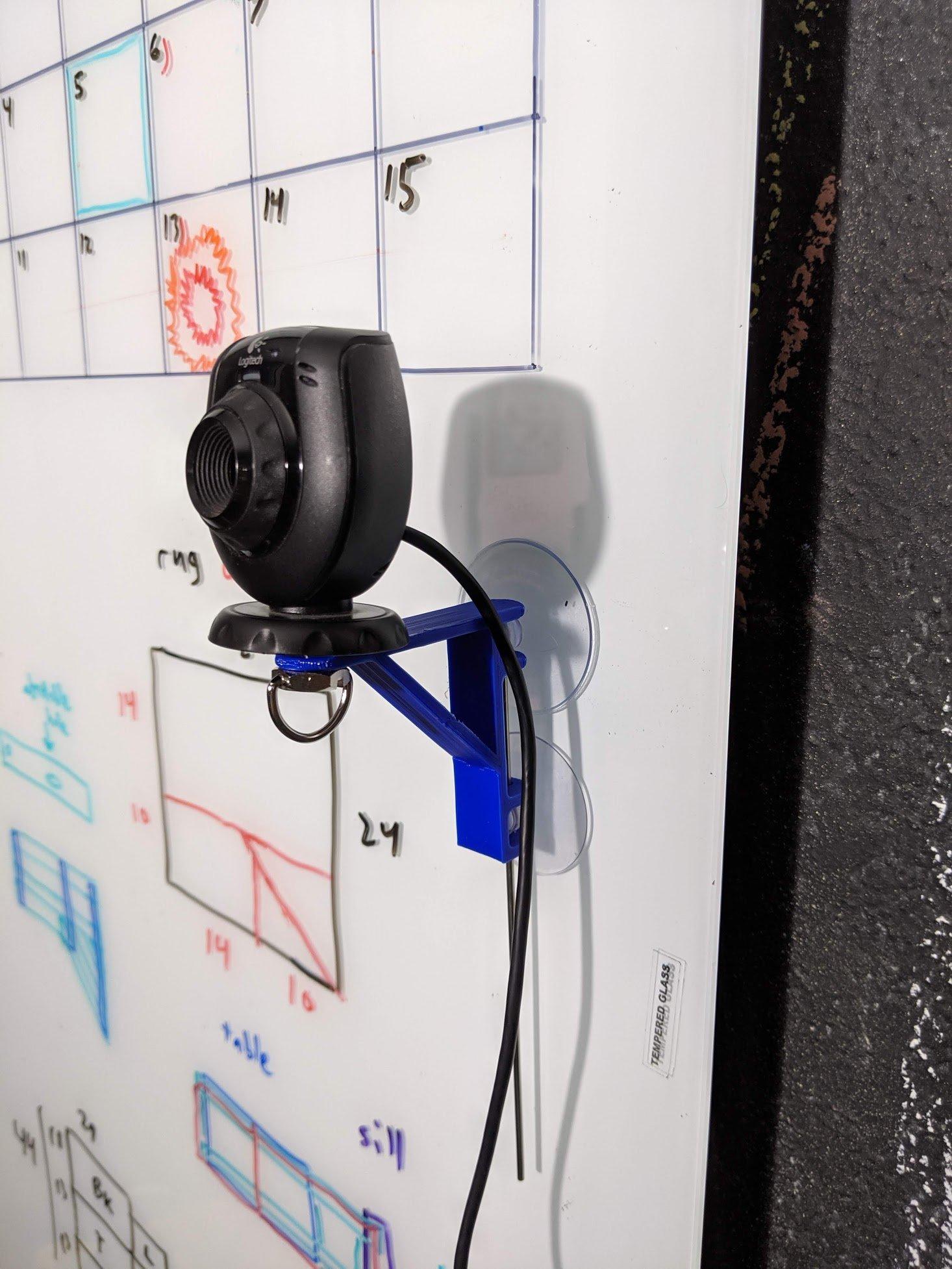 Web cam suction cup mount