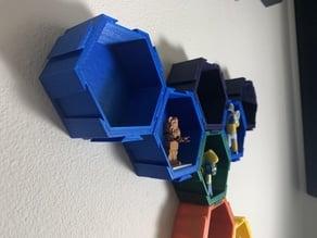 Modular Hexagonal Display Box with Dovetails