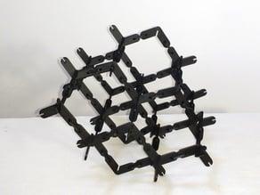 Press fit tetrahedral truss