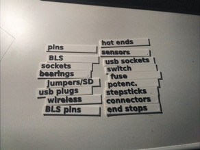 Custom labels for POWERFIX organizer from Lidl